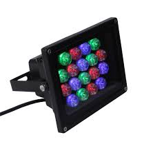 Multi Color Flood Lights Garden Reflector Ip66 Led Rgb 12w 18w 24w Outdoor Multicolor