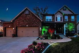 led landscape spotlight snowflake laser lights snow led landscape light outdoor