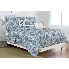 home dynamix classic trends blue gray 5 piece full queen comforter set