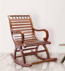 chelmsford teak wood rocking chair in composite finish by for inspirations 10