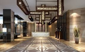 Most Fabulous Hotel Lobby Designs To Tempt Your Guess: Amazing Lobby Hotel  Interior with Patterned