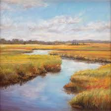 paintings of marshes for her painting marsh river reflections