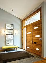 contemporary entryway furniture. Contemporary Entryway Bench Furniture Organic Modern Bright Wooden Door Dark Brown Rug R