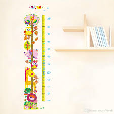 Wallpaper Measuring Chart New Cute And Friendly Animals Height Growth Chart Decal Stickers Forest Zoo Cartoon Owls Lion Giraffe Height Measurement Height Wallpaper Removable