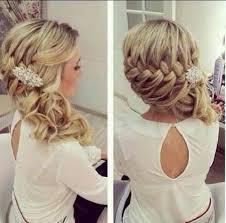 Tresse épaisse Sur Le Côté Wedding Coiffure Cheveux Et