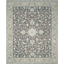 hand hooked rugs blossom dark grey light brown 8 ft x ft area rug hand hooked