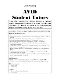 tutor skills resumes