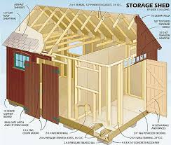 Small Picture Free Storage Shed Building Plans Shed Blueprints