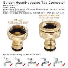 2 pack brass garden hose hosepipe 1 2