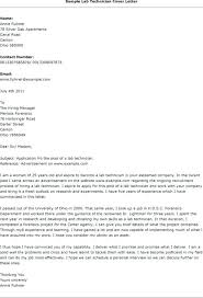 Sample Research Cover Letter Lab Technician Cover Letter Sample Cover Letter Lab Technician Cover