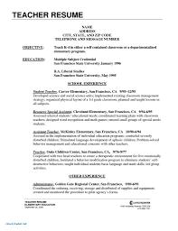 Resume Coveretter For Teacher Resume Template Sample Teachers