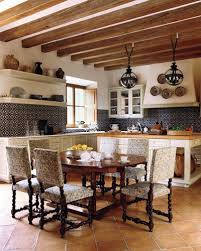 terra cotta floor spanish time dark metal pendant lamps and a