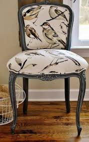 sophia s french chair reupholstery makeover and tutorial clear wax and pure white chalk paint to tint it over dark paint