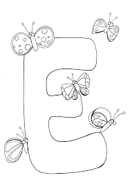 Letter E Coloring Pages Printable Letter E Coloring Pages Free