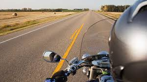 motorcycle rider s eye view of the road