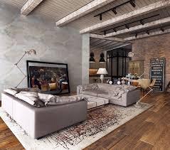 modern industrial design furniture. Living Room Industrial Table Urban Decor Metal And Wood Furniture Modern Interior Design
