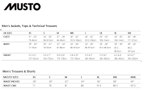 Musto Drysuit Size Chart Musto Brand Specific Size Guides Size Guides Force 4