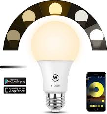 Hao Deng Lights Haodeng Bluetooth Mesh Smart Bulb Group Control No Hub Required Suitable For Home Lighting 40w Equivalent A19 E27 Led Light Lamp Warm White