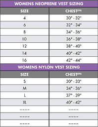 Womens Life Vest Size Chart Oneill Womens Superlite Cga Life Vest