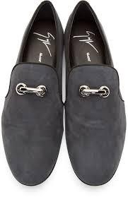 <b>Giuseppe Zanotti</b> Grey Suede Loafers   Модная мужская обувь ...