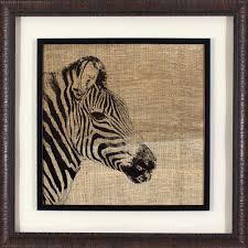 decor therapy 27 25 in x 27 25 in safari zebra printed framed wall art