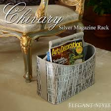 Silver Magazine Holder decorplus Rakuten Global Market Chivary align shivari silver 2