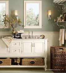 Amazing Gratifying Green By Sherwin Williams | Light Sage Green Bathroom Color With  White And Wicker Accents