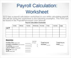 payroll sample sample payroll time sheet calculator 8 documents in pdf excel