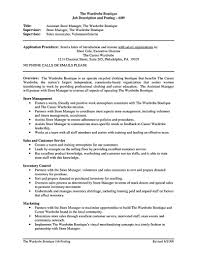 Boutique Owner Resume Store Manager Resume Should Be Written Clearly And Properly