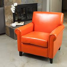 Rolled Arm Leather Burnt Orange Club Chair by Christopher Knight Home -  Free Shipping Today - Overstock.com - 13681341
