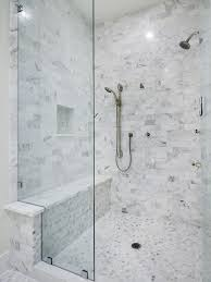 carrera marble shower shower transfer bench bathroom contemporary with bench faucet glass wall mosaic tiled floor