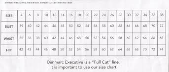 Donna Vinci Size Chart Size Charts