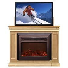 conestoga electric fireplace tv lift cabinet unfinished tv stands with fireplace built in