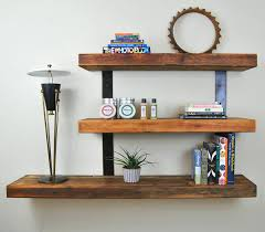 Image of: Rustic Floating Wall Shelves Ideas