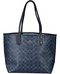 Coach REVERSIBLE CITY TOTE IN SIGNATURE AND METALLIC CANVAS Womens Bag