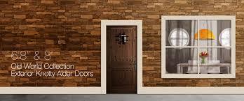 Bevel King Doors   Exterior Knotty Alder Doors