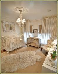 white sheepskin rug for nursery