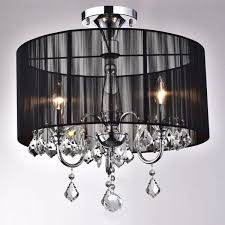 lighting fascinating chandelier flush mount 11 gorgeous crystal 27 black 20and 20chrome 20semi 20flush 20mount 20crystal