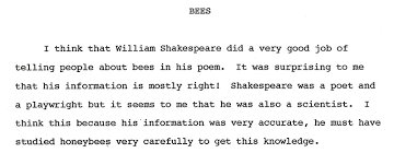 bees and shakespeare essay models of excellence 1