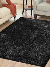 hand tufted polyester 8 x8 square area rug solid black k00111 getmyrugs com