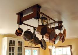 Kitchen Pot Rack Kitchen Update Your Kitchen In Style With Lighted Pot Rack