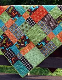 baby boy quilt for toddler bed or throw // dinosaur hopscotch in ... & baby boy quilt for toddler bed or throw // dinosaur hopscotch in bright boy  fabrics Adamdwight.com