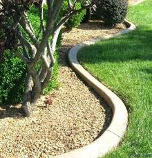 curved concrete garden bed edging is a