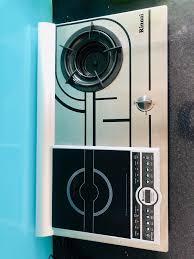 Bếp gas âm bếp điện từ Rinnai 2 trong 1 RVB-COMBI(R) - Hàng chính hãng