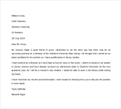 6 Librarian Cover Letters Sample Templates