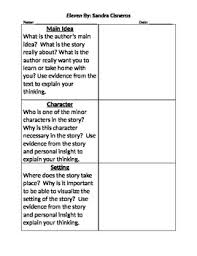 eleven sandra cisneros teaching resources teachers pay teachers  eleven by sandra cisneros activity plot theme main idea journal