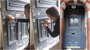 trim decorating front door spot filling
