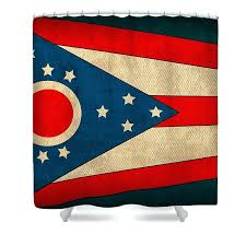 ohio state shower curtains shower curtain featuring the mixed media state flag art on worn canvas ohio state shower curtains