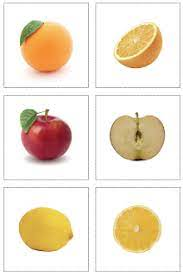 The Helpful Garden: Fruit Inside and Out Matching Cards | Fruit,  Montessori, Preschool food