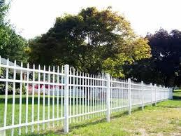 white aluminum fence aluminum fence